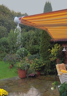 Awnings - Rain water dispersed to the sides effectively