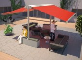 self supporting awnings for pubs, cafes, etc