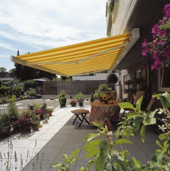 Patio awning for home sun and rain protection