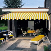 Remote control electric awning fully cassetted