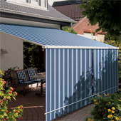 Shade plus optional extra for retractable awning