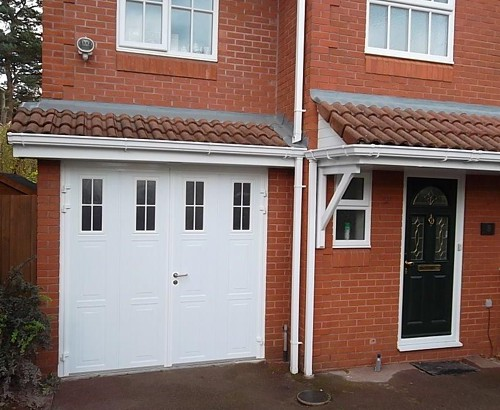 Carteck Insulated Side Hinged Garage Door with Windows