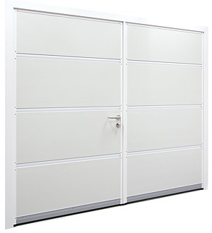 Internal view of Carteck side hinged garage door