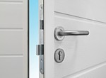 stainless steel handle and double throw deadbolt