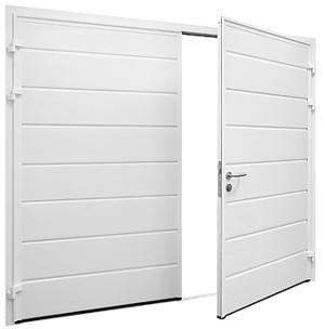 External view of Carteck side-hinged garage door