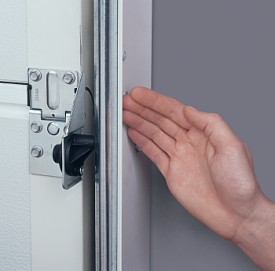 Carteck finger and hand side protection standard on sectional doors operation