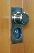 timber garage door locking
