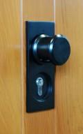 standard black garage door handle