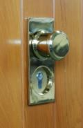 brass finish timber garage door handle