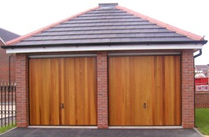 Cedar Up and Over Garage Door