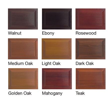 Timber garage door colours available