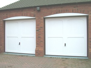 Cotswold Moreton GRP Up and Over garage doors in white