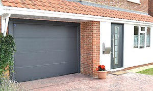 anthracite garage and entrance door