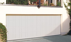 double timber sectional door