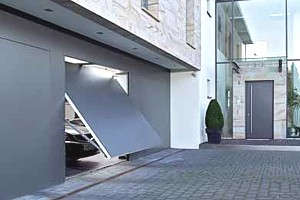 aluminium faced garage doors
