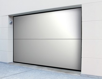 insulated steel door design with clean lines