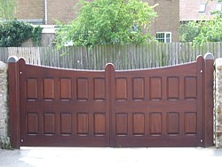 solid timber swing gates