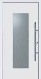 Hormann Entrance Door - Style 110 glazed centre, steel border.