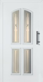 Hormann Entrance Door - Style 4012, traditional, glazed frosted glass sections