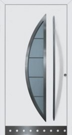 Hormann ThermoSafe Entrance Door - Style 42, semi-circle glass