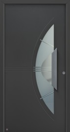 Hormann ThermoSafe Entrance Door - Style 553 in anthracite grey metallic