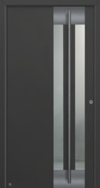 Hormann ThermoSafe Entrance Door - Style 554 in anthracite constructed solely from aluminium
