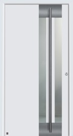 Hormann ThermpSafe Entrance Door - Style 554, vertical long handle and stainless steel protective strip