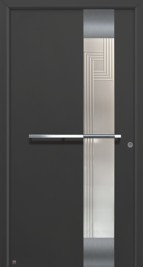 Hormann ThermoSafe Entrance Door - Style 555, vertical strip, horizontal handle