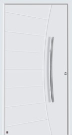 hormann style 556 plain white front door with ribbed design