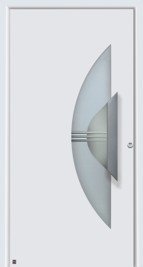 hormann front entrance door aluminium style 562 with semi circle handle and glazed section
