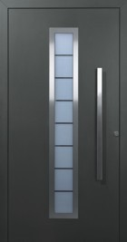 Hormann ThermoSafe Entrance Door - Style 65, anthracite grey, horizontal glass strip
