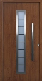 Hormann ThermoSafe Entrance Door - Style 65, decograin wood effect