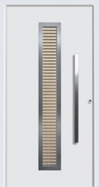 hormann door style 65-8 with canadian maple insert horizontal design