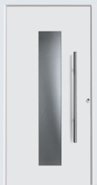 Hormann ThermoSafe White Entrance Door - Style 650, stainless steel strip