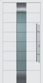 Hormann ThermoSafe White Entrance Door - Style 659, horizontal ribbed zone