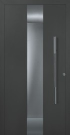 Hormann ThermoSafe Black Entrance Door - Style 680