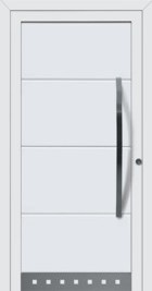 Hormann ThermoSafe Entrance Door - Style 693, large horizontal ribs, metallic detailing