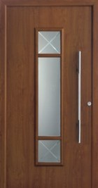 Hormann ThermoSafe Entrance Door - Style 694, wood effect, detailing on glazed glass