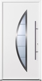 hormann tps 900 - white thermopro door with crescent design