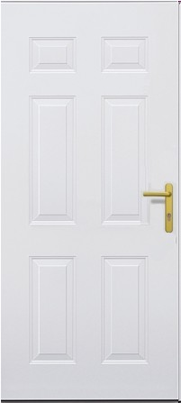 hormann tps 100 standard plain white front door for the home