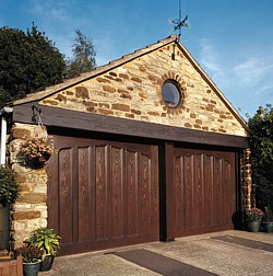 Cardale glasswood GRP garage doors