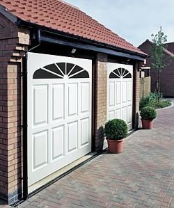 Pair of Cardale GRP sunburst garage doors