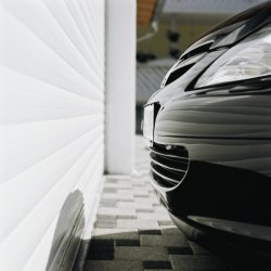 Car parked close to Seceuroglide roller shutter