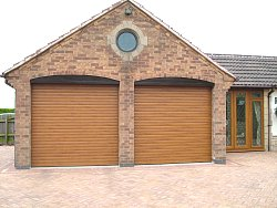 Pair of insulated roller shutters in Leicestershire