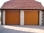 Hormann timber sectional doors with style 405 routed design