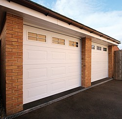 Cartck sectional garage doors with windows