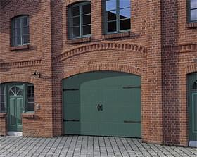 special design with false hinges and green colour finish