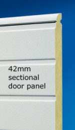 Insulated sectional garage door panel section