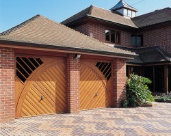 Hormann open for infill up and over special design timber garage doors