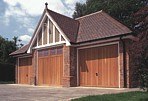 Timber Garage Doors - 3 Single Doors